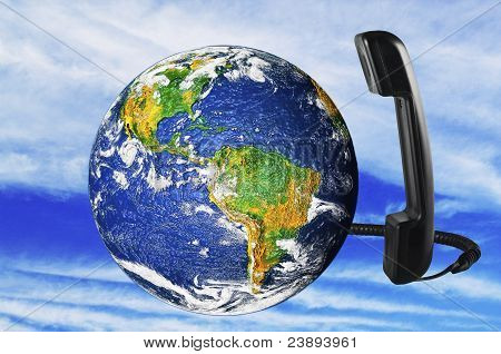 phone with Earth