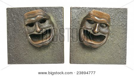 bronze theater masks