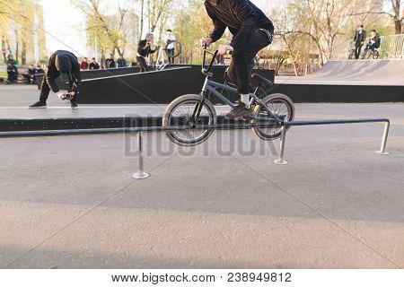 Bmx Bike Racing In A