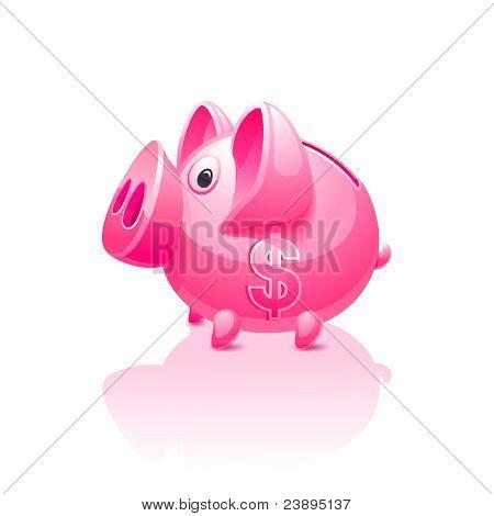 Rosa Hucha con signo de dólar