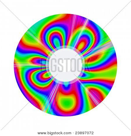 An image of a compact disc with nice colors