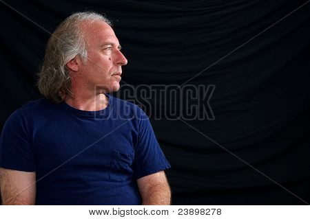 Profile Portrait Of Older Man