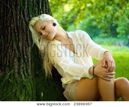 Beautiful Girl Relaxing