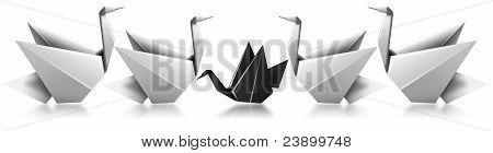 Different black swan metaphor