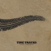 Tire Tracks On Mud Background Vector Design poster