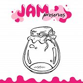 Preserve Clipart, Jam Jar Vector Illustration Clip Art. Jam Preserves Clipart For Logo, Label, Recip poster