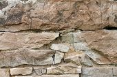 Cracked Stone Wall Background poster