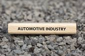 Automotive Industry - Image With Words Associated With The Topic Automotive Industry, Word, Image, I poster