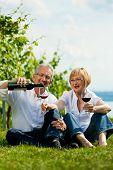 image of summer fun  - Happy mature couple  - JPG