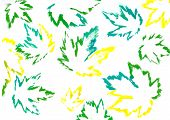 Постер, плакат: Зеленые листья