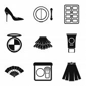Shopping Area Icons Set. Simple Set Of 9 Shopping Area Vector Icons For Web Isolated On White Backgr poster