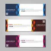 Vector Abstract Design Web Banner Template. Web Design Elements - Header Design. Abstract Geometric  poster