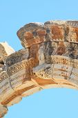 pic of brothel  - fragment Temple of Hadrian in an antique city the Ephesus - JPG