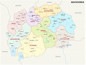 The Macedonia Administrative And Political Vector Map poster