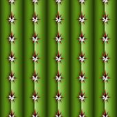 Cactus Stem Seamless Pattern, Cereus Alike Plant Texture With Spines, Areola And Ribs, Realistic Col poster