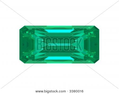 Emerald Square Isolated On White Background