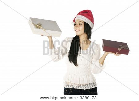 Woman Show Her Present