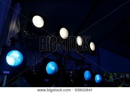 light for concert at night