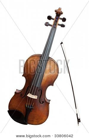 violoncello isolated under the white background
