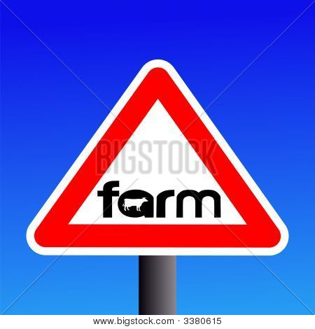 Farm Sign With