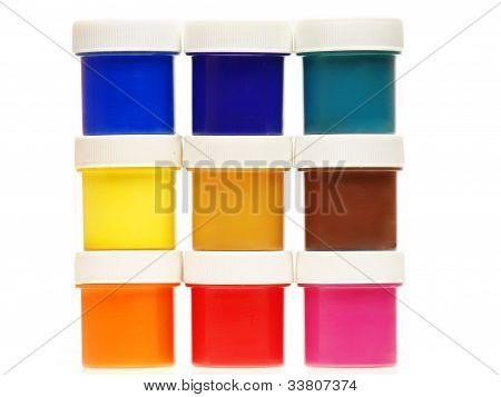 Multi-colored Gouache Paint