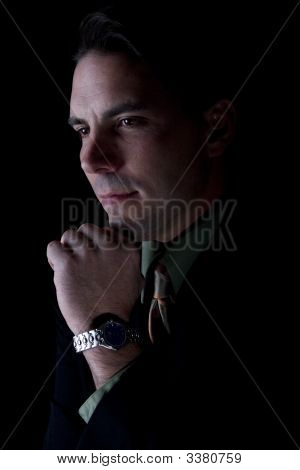 Male Model In Business Clothes
