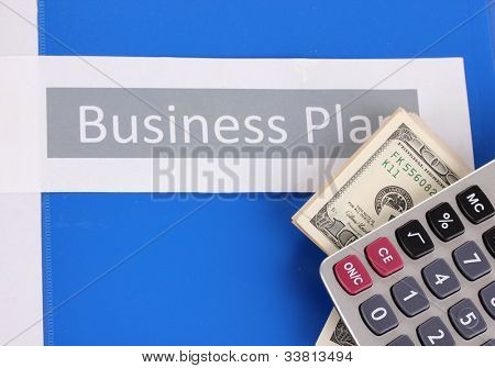 Blue folder labeled business