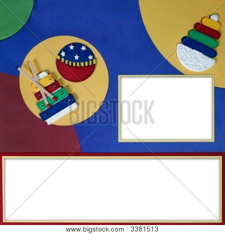 Bright Baby Primary Themed Digital Scrapbook Page