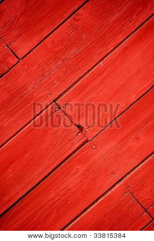 Diagonal Red Barn Wood
