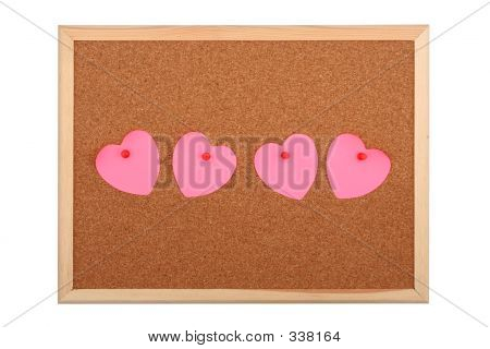 Heart shaped notes on bulletin image photo bigstock for Heart shaped bulletin board