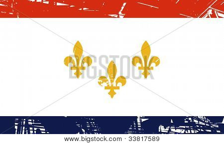 New Orleans city flag, state of Louisiana, U.S.A.