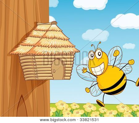 illustration of a funny beehive - EPS VECTOR format also available in my portfolio.