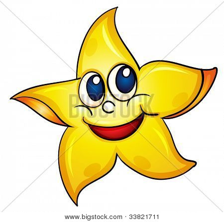 illustration of a simple starfish - EPS VECTOR format also available in my portfolio.