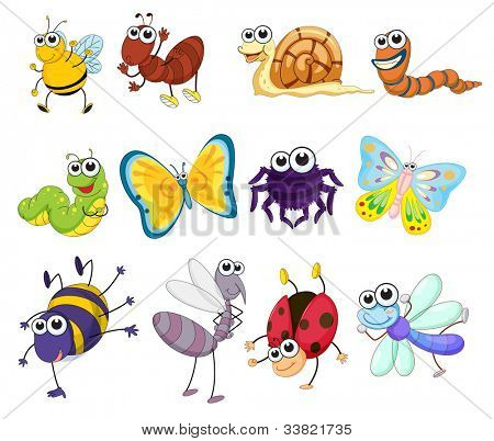 Illustration of a group of bugs - EPS VECTOR format also available in my portfolio.