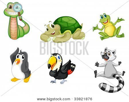 Illustration of a set of cute animals - EPS VECTOR format also available in my portfolio.