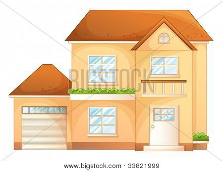 Illustration a simple house front view - EPS VECTOR format also available in my portfolio.