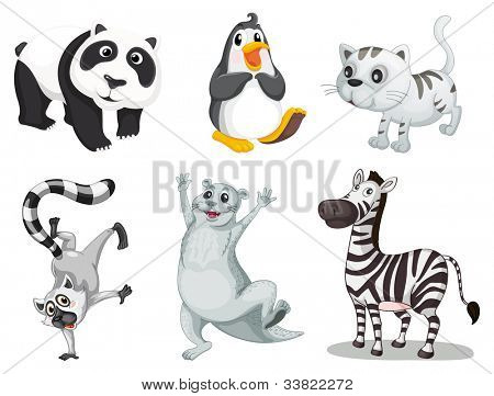 Illustration of collection of animals - EPS VECTOR format also available in my portfolio.