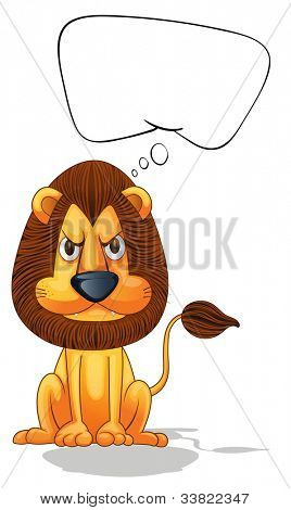 Illlustration of a lion thinking - EPS VECTOR format also available in my portfolio.