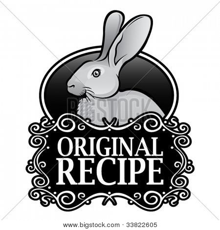Original Recipe Rabbit Royal Seal, Badge