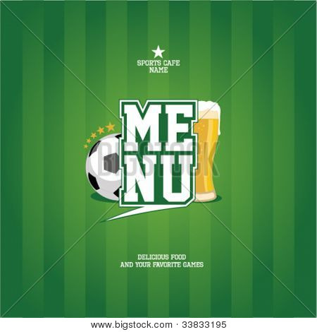 Sports Bar Menu card design template.