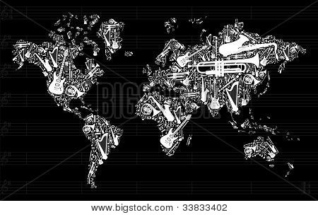 Music Instruments In World Map