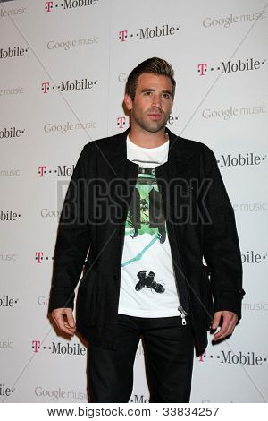 LOS ANGELES - NOV 16:  Jason Wahler arrives at the Google Music Launch at Mr. Brainwash Studio on November 16, 2011 in Los Angeles, CA