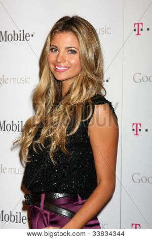 LOS ANGELES - NOV 16:  Amber Lancaster arrives at the Google Music Launch at Mr. Brainwash Studio on November 16, 2011 in Los Angeles, CA