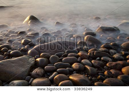Rocky Beach at Sunrise