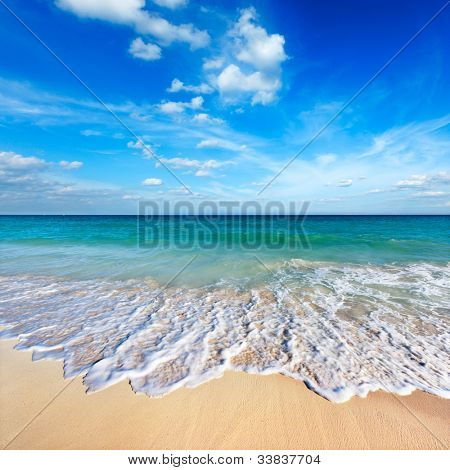 Beautiful beach and  wave