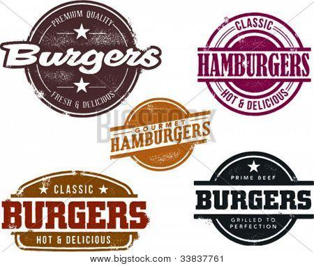 Estilo vintage Hamburger Menu gráficos