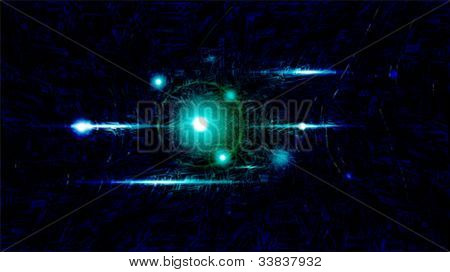 Vector illustration of futuristic dark abstract glowing background