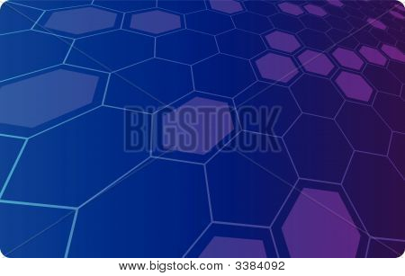 Vector Illustration Of An Abstract Hi-Tech Background