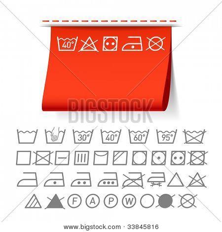 Washing symbols. Vector.