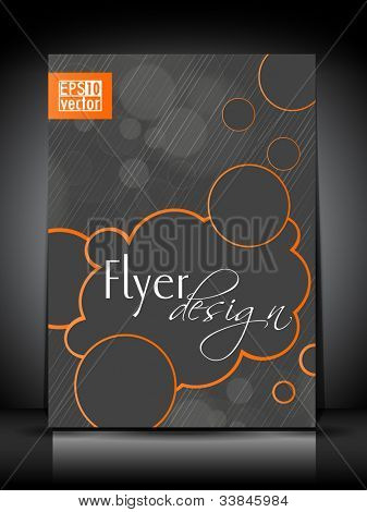 Professional business flyer template or corporate brochure cover design for publishing, print and presentation. Vector illustration in EPS 10.
